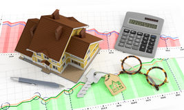Analytics de Real Estate Photographie stock