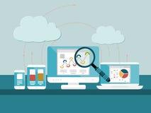 Analytics de site Web Images libres de droits