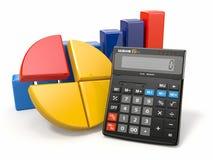 Analytics del asunto. Calculadora y gráfico stock de ilustración