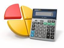 Analytics del negocio. Calculadora y gráfico libre illustration