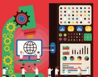 Analytics del web ilustración del vector