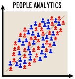 Analytics. Describing the population by using a statistical model Royalty Free Stock Photo