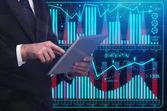Analytics en technologieconcept Royalty-vrije Stock Afbeeldingen