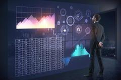 Analytics en toekomstig concept Stock Foto