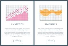 Analytics et illustration de vecteur réglée par statistiques Image libre de droits