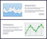 Analytics et illustration de vecteur réglée par statistiques Photographie stock