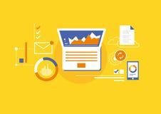 Analytics för affär arkivfoton