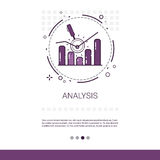 Analytics Financial Business Analysis Banner With Copy Space. Vector Illustration Royalty Free Stock Images