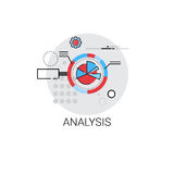 Analytics Financial Business Analysis Icon. Vector Illustration Royalty Free Stock Images