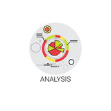 Analytics Financial Business Analysis Icon. Vector Illustration Stock Photos