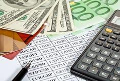 Analytics financiero Fotos de archivo