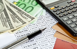 Analytics financiero Foto de archivo
