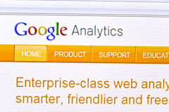 analytics google Arkivbild