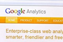 analytics google Στοκ Φωτογραφία