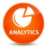 Analytics (grafiekpictogram) elegante oranje ronde knoop Royalty-vrije Stock Afbeeldingen