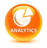 Analytics (grafiekpictogram) glazige oranje ronde knoop Royalty-vrije Stock Foto