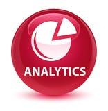 Analytics (grafiekpictogram) glazige roze ronde knoop Stock Foto