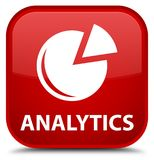 Analytics (grafiekpictogram) speciale rode vierkante knoop Stock Foto's