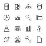 Analytics icon set. Collection of high quality black outline logo for web site design and mobile apps. Vector illustration on a white background Stock Images