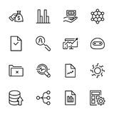 Analytics icon set. Collection of high quality black outline logo for web site design and mobile apps. Vector illustration on a white background Royalty Free Stock Images