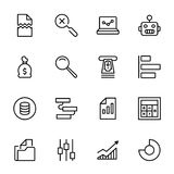 Analytics icon set. Collection of high quality black outline logo for web site design and mobile apps. Vector illustration on a white background Royalty Free Stock Photos