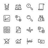 Analytics icon set. Collection of high quality black outline logo for web site design and mobile apps. Vector illustration on a white background Stock Photo