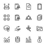 Analytics icon set. Collection of high quality black outline logo for web site design and mobile apps. Vector illustration on a white background Stock Photos