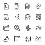 Analytics icon set. Collection of high quality black outline logo for web site design and mobile apps. Vector illustration on a white background Royalty Free Stock Photography