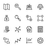 Analytics icon set. Collection of high quality black outline logo for web site design and mobile apps. Vector illustration on a white background Royalty Free Stock Image