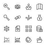 Analytics icon set. Collection of high quality black outline logo for web site design and mobile apps. Vector illustration on a white background Stock Photography