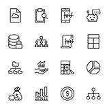 Analytics icon set. Collection of high quality black outline logo for web site design and mobile apps. Vector illustration on a white background Stock Image