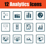 Analytics icon set Royalty Free Stock Photos