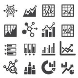 Analytics icon set Royalty Free Stock Photography