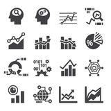 Analytics icon set Royalty Free Stock Image