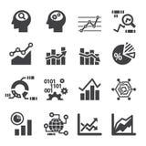 Analytics icon set Royalty Free Stock Image