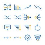 Analytics icons set royalty free illustration