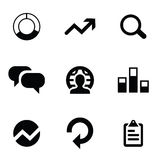 Analytics 9 icons set Royalty Free Stock Image