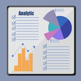Analytics infographic op de raad, stock illustratie