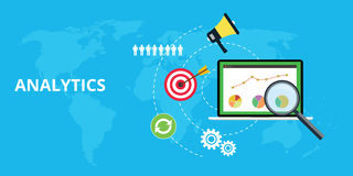 Analytics and maintain website traffic graph. And chart royalty free illustration