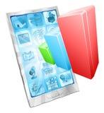 Analytics phone app concept Stock Photography