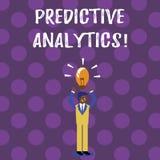 Analytics profético del texto de la escritura de la palabra Concepto del negocio para que método prevea el análisis estadístico d ilustración del vector