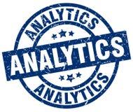 Analytics stamp. Analytics round grunge stamp isolated on white background Royalty Free Stock Photos