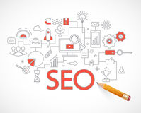 Analytics search information and website SEO optimization Stock Photography