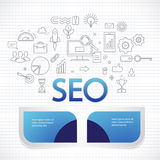 Analytics search information and website SEO optimization Royalty Free Stock Image