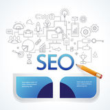 Analytics search information and website SEO optimization Stock Photo