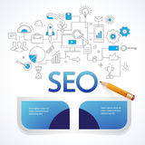 Analytics search information and website SEO optimization Royalty Free Stock Images