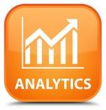 Analytics (statistiekenpictogram) speciale oranje vierkante knoop Stock Fotografie