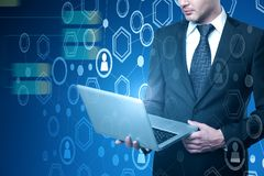 Analytics and technology concept royalty free stock photos