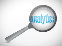 Analytics under search. concept illustration Royalty Free Stock Images