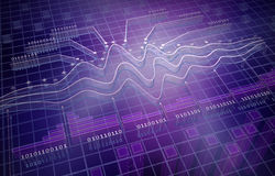 Analytics van IT, 3D achtergrond Royalty-vrije Stock Afbeelding